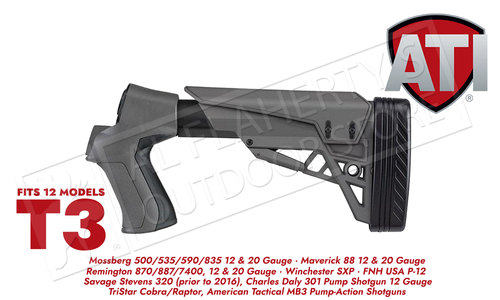 ATI T3 Shotgun Stock for Remington Mossberg and Winchester #B.1.40.2007