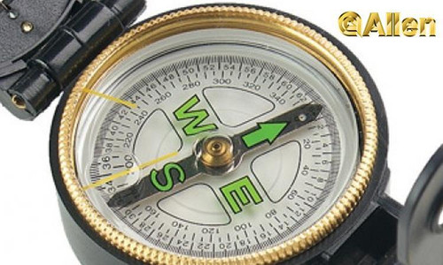 Allen Lensatic Compass with Glowing Dial #486