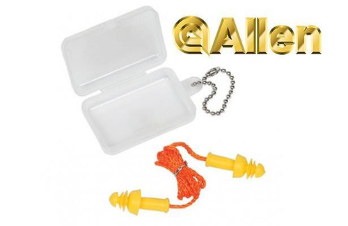 Allen Molded Ear Plugs with Cord 24NRR #2293
