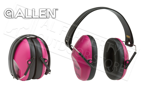 Allen Orchid Women's Lo-Profile Shooting Muffs, 26dB NRR #2258
