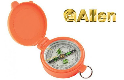 Allen Pocket Compass with Lid in Orange #487