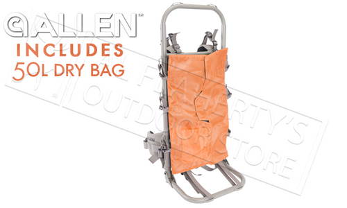 Allen Rock Canyon CP External Pack Frame with 50L Dry Bag Included #1933