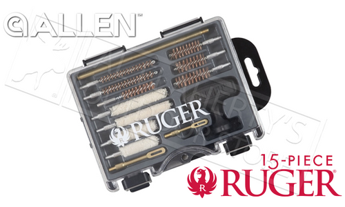 Allen Ruger Compact Handgun Cleaning Kit, 15 Pieces #27821