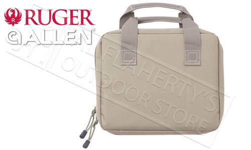 "Allen Ruger Single Handgun Case, 11"" Tan #27958"