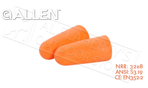 Allen Silencer Foam Ear Plugs, 32dB NRR #2341x