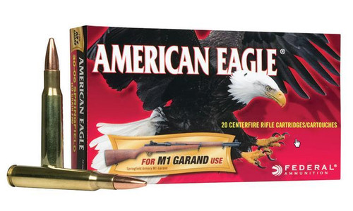 Federal American Eagle 30-06 SPRG M1 Garand, FMJ 150 Grain Box of 20 #AE3006M1
