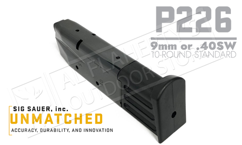 SIG Sauer Magazine P226 9mm or 40SW 10-Round #MAG-226