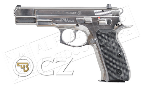 CZ 75 B High Polish Stainless Steel Pistol, 9mm