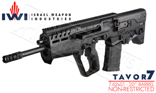"IWI Tavor 7 Rifle in 7.62 NATO With 20"" Barrel #TAV308B"