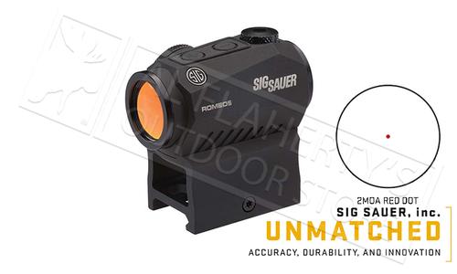 SIG Sauer Romeo5 Red Dot Sight, 2MOA 1x20mm #SIGPS0525001