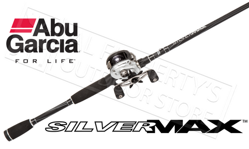"ABU GARCIA SILVER MAX 3 COMBO BAITCASTING ROD & REEL, 1-PIECE 6'6"" MEDIUM POWER"