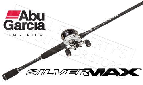 "ABU GARCIA SILVER MAX 3 COMBO BAITCASTING ROD & REEL, 1-PIECE 6'6"" MEDIUM POWER"