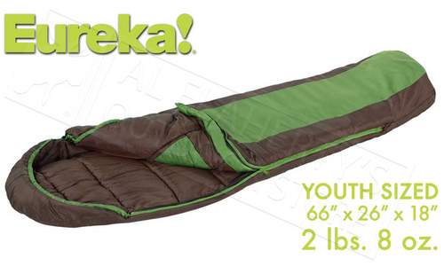 "EUREKA GRASSHOPPER YOUTH 66"" SLEEPING BAG #2631842"