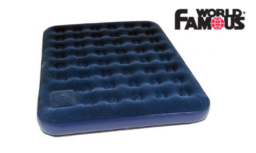 WORLD FAMOUS DOUBLE AIR MATTRESS WITH PUMP #7891