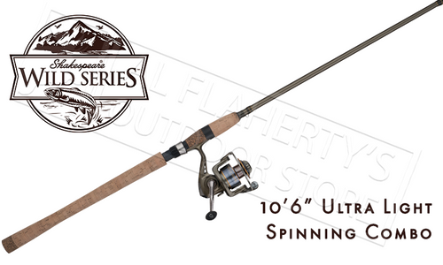"SHAKESPEARE WILD SERIES SALMONSTEELHEAD SPINNING COMBO, 10'6"" ULTRA LIGHT"
