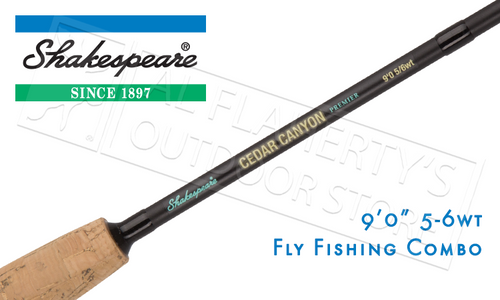 SHAKESPEARE SHAKESPEARE CEDAR CANYON PREMIER FLY FISHING COMBO, 9FT 4-PIECE 5/6WT