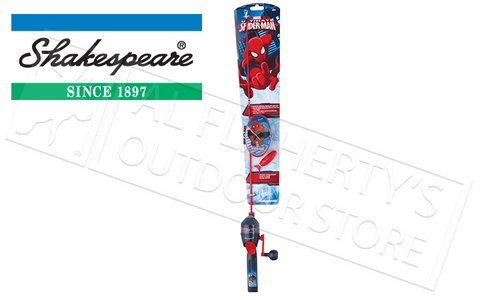 SHAKESPEARE SPIDERMAN SPINCASTING FISHING COMBO FOR KIDS