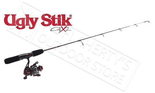 "UGLY STIK GX2 ICE FISHING COMBO, 26"" LIGHT OR 28"" MEDIUM"