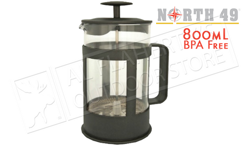 NORTH 49 FRENCH PRESS STYLE COFFE & TEA PRESS, 800ML #2742