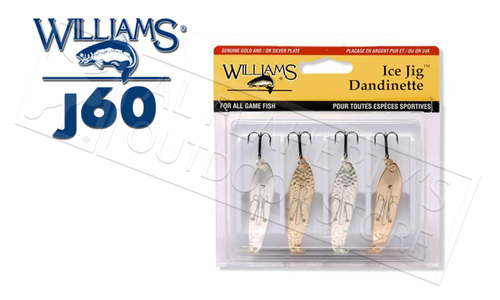Williams Classics 4-Pack Ice Jig Size J60 #4-J60CL