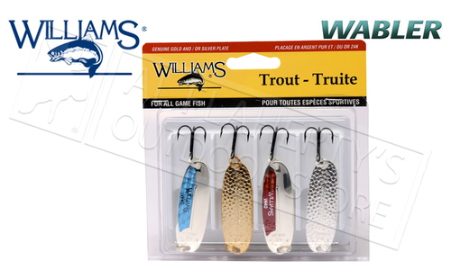 "Williams Trophy Takers Wabler Trout Kit, Size W40, 2-14"" 1/4 oz #4-TK"