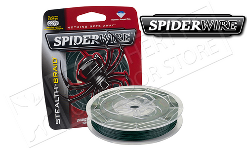 SPIDERWIRE STEALTH BRAID FISHING LINE, MOSS GREEN, 200 YARD SPOOLS