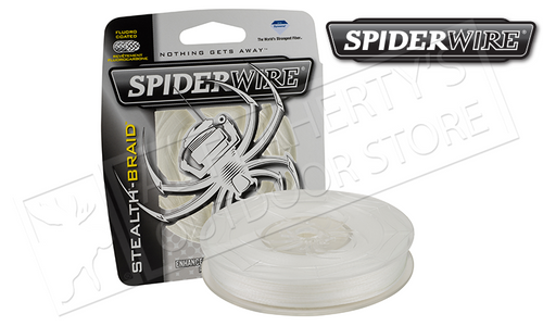 SPIDERWIRE STEALTH TRANSLUCENT BRAIDED LINE, 200 YARD SPOOLS