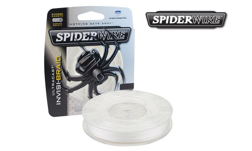 SPIDERWIRE ULTRACAST INVIS-BRAID FISHING LINE, TRANSLUCENT, 125 YARD SPOOLS