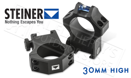 STEINER T-SERIES SCOPE RINGS - 30MM HIGH WITH INTEGRATED LEVEL