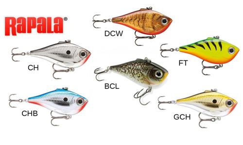 "RAPALA RIPPIN' RAP - RPR06 - 2-1/2"", 1/2 OZ, VARIABLE DEPTH"