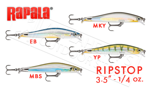 "RAPALA RIPSTOP SWIMBAIT, 3-1/2"" 1/4 OZ. VARIOUS PATTERNS #RPS09"