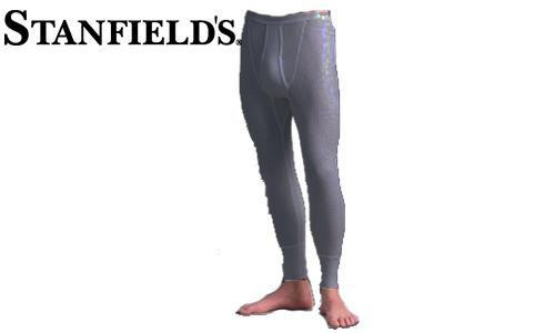 STANFIELD'S THERMAL LONG JOHNS, WAFFLE KNIT, BLACK MIX #6622 572