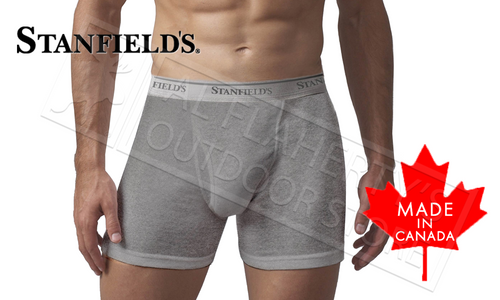 STANFIELD'S MENS BOXER BRIEFS - PREMIUM COTTON GREY EXTRA LARGE #2508