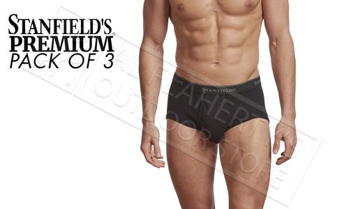 STANFIELD'S MENS BRIEFS - PREMIUM 100% COTTON BLACK VARIOUS SIZES, PACK OF 3 #2503