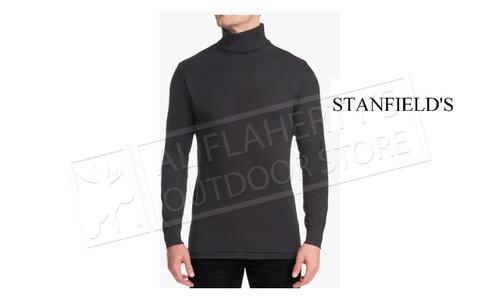 Stanfield's Rib Knit Turtleneck in Black 4640-552