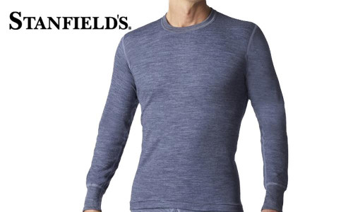 STANFIELD'S TWO LAYER WOOL BLEND LONG SLEEVE TOP #8813
