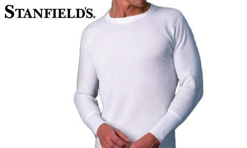 STANFIELD'S THERMAL TOP, WAFFLE KNIT, GREY #6623 010