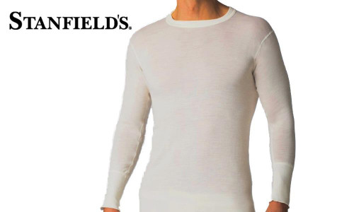 STANFIELD'S SUPERWASH WOOL LONG SLEEVE CREW TOP #4313