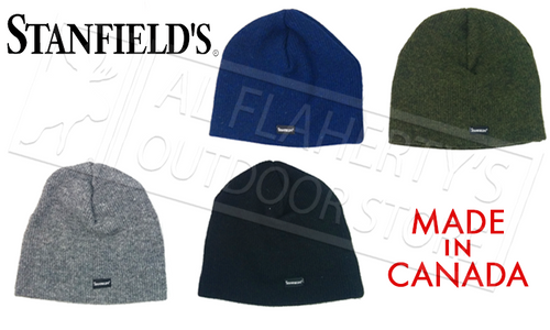 STANFIELDS WOOL TOQUE - VARIOUS COLOURS MADE IN CANADA #1318
