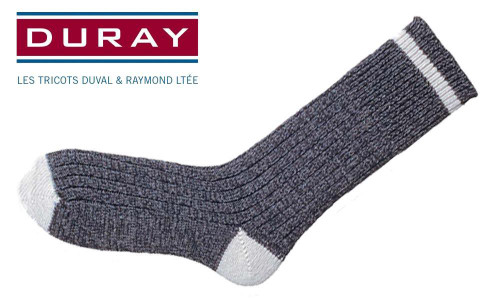 DURAY ORIGINAL WOOL WORK SOCK, LARGE #198