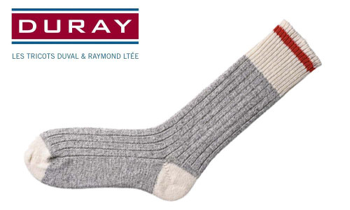 DURAY ORIGINAL WOOL WORK SOCK, LARGE, PACK OF 3 #169C
