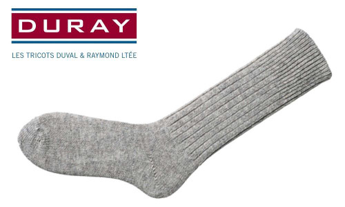 DURAY ARMY WORK SOCK, NATURAL GREY, SIZE 10 #4011