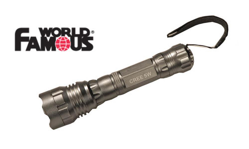 WORLD FAMOUS 5 WATT CREE LED FLASHLIGHT WITH LANYARD #2404