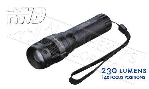 RWD TAK-LITE FOCUSING FLASHLIGHT, 230 LUMENS 14 POSITIONS #2406