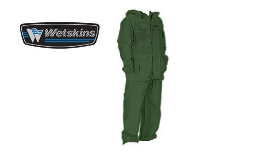 WETSKINS FRESHWATER RAINSUIT, OLIVE GREEN 2-PIECE #8906