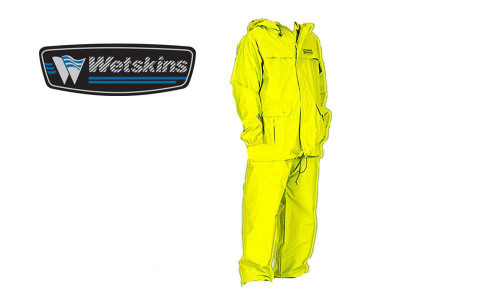 WETSKINS FRESHWATER RAINSUIT, YELLOW 2-PIECE #890