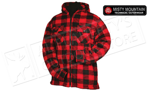 MISTY MOUNTAIN SHERPA FLEECE JACKET WITH INSULATED HOOD & ZIPPER M-2XL #5701
