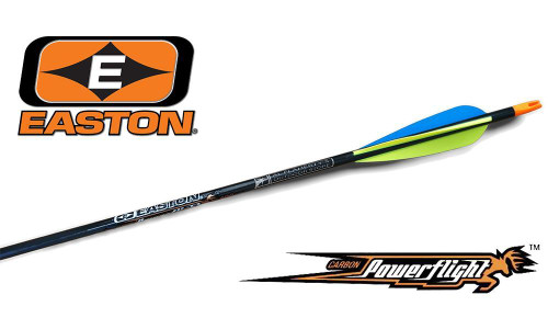 EASTON POWERFLIGHT CARBON FIBER ARROWS, SIZE 400 8.4 GPI