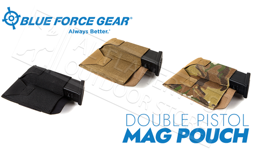 Blue Force Gear Double Pistol belt Pouch, Black, Coyote Brown, or Multicam #BT-TSP-PISTOL-2