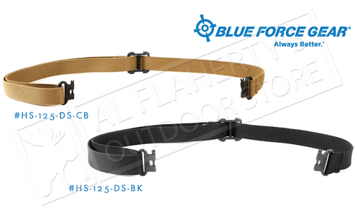 "BLUE FORCE GEAR HUNTING SLING, COYOTE BROWN OR BLACK ADJUSTABLE 26"" TO 46"""